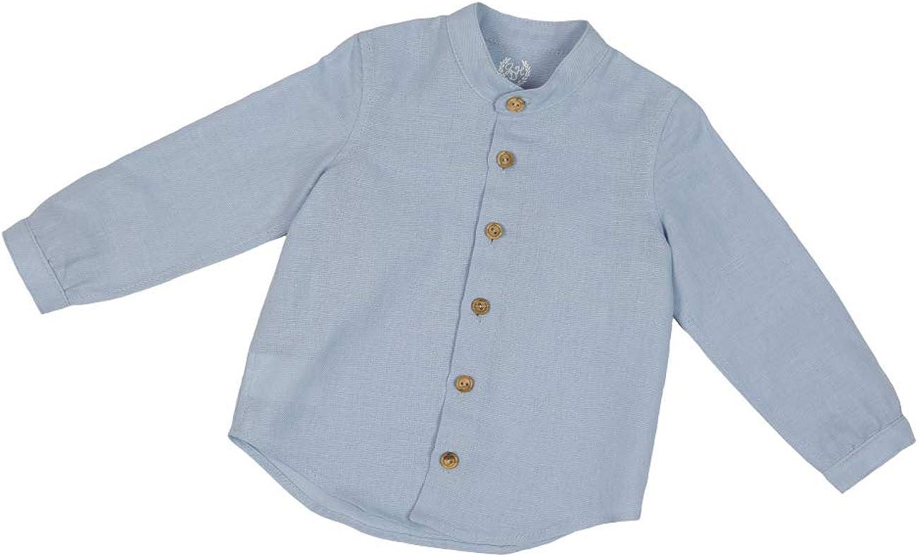 Camisa Lino de Manga Larga para Bebe (de 12 a 24 Meses) - Hecho a Mano: Amazon.es: Ropa y accesorios