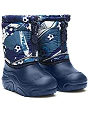 Dune-ast 581 White Winter Snow Boots for Girls White Pearl Warm with Zipper Waterproof