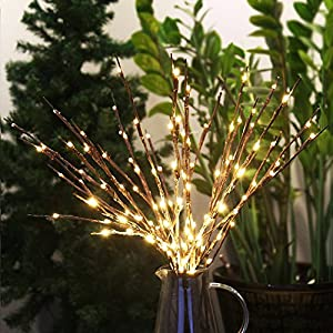 Accmor 6 Pack Led Lighted Twig Branches, Battery Powered 20 Inches 20 LED Lights Branch Lights for Christmas Home Decoration