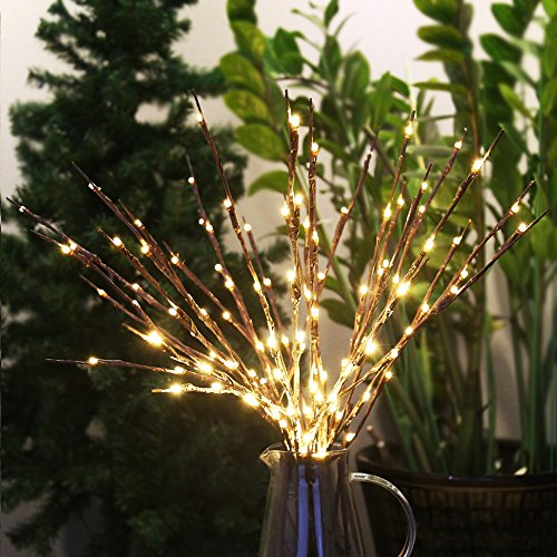 Accmor 6 Pack Led Lighted Twig Branches, Battery Powered 20 Inches 20 LED Lights Branch Lights for Christmas Home Decoration (Stick Tree With Lights)