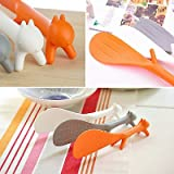 Charmed Plastic Squirrel Shaped Non Stick Rice Paddle Spoon (multi color)