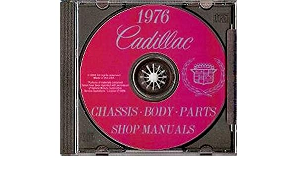 1976 Cadillac Body Shop Manual Deville Eldorado Calais Fleetwood Brougham Repair
