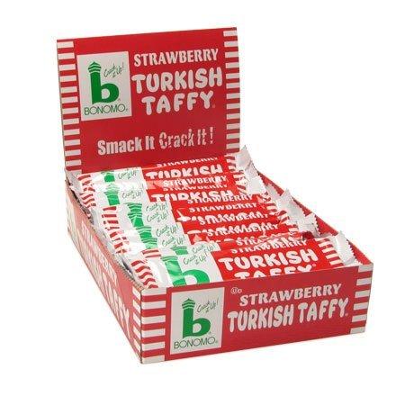 Bonomo Turkish Taffy Strawberry (Pack of 24) Bonomo Turkish Taffy Chocolate