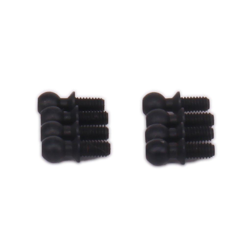 Black HobbyCrawler Ball Studs Pivots Head Screws Fastener Bolt 10mm for 1//18 Wltoys A959 A969 A979 K929 RC Hobby Model Car 8-Pack A580041