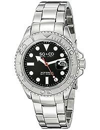 SO&CO New YorkMen's 5053.3 Yacht Timer Quartz Date Luminous Stainless Steel Link Bracelet Watch