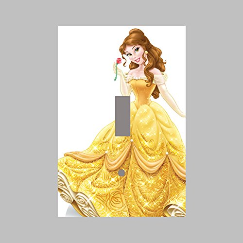 Cover SINGLE Light Switch Plate BELLE BEAUTY AND THE BEAST DISNEY PRINCESS PRINCESSES