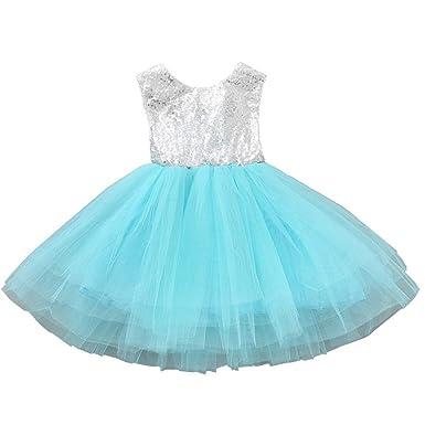91b3330c7834 Sleeveless Princess Ruffle Summer Sequin Girl Dress Formal Bridesmaid  Christmas Easter Evening Prom Dresses for Girls