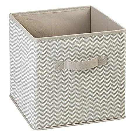 mDesign Caja de almacenamiento - Cubo de almacenamiento Ideal para guardar varios artículos en la casa- Sistema de almacenamiento versátil - Paquete de 2: ...