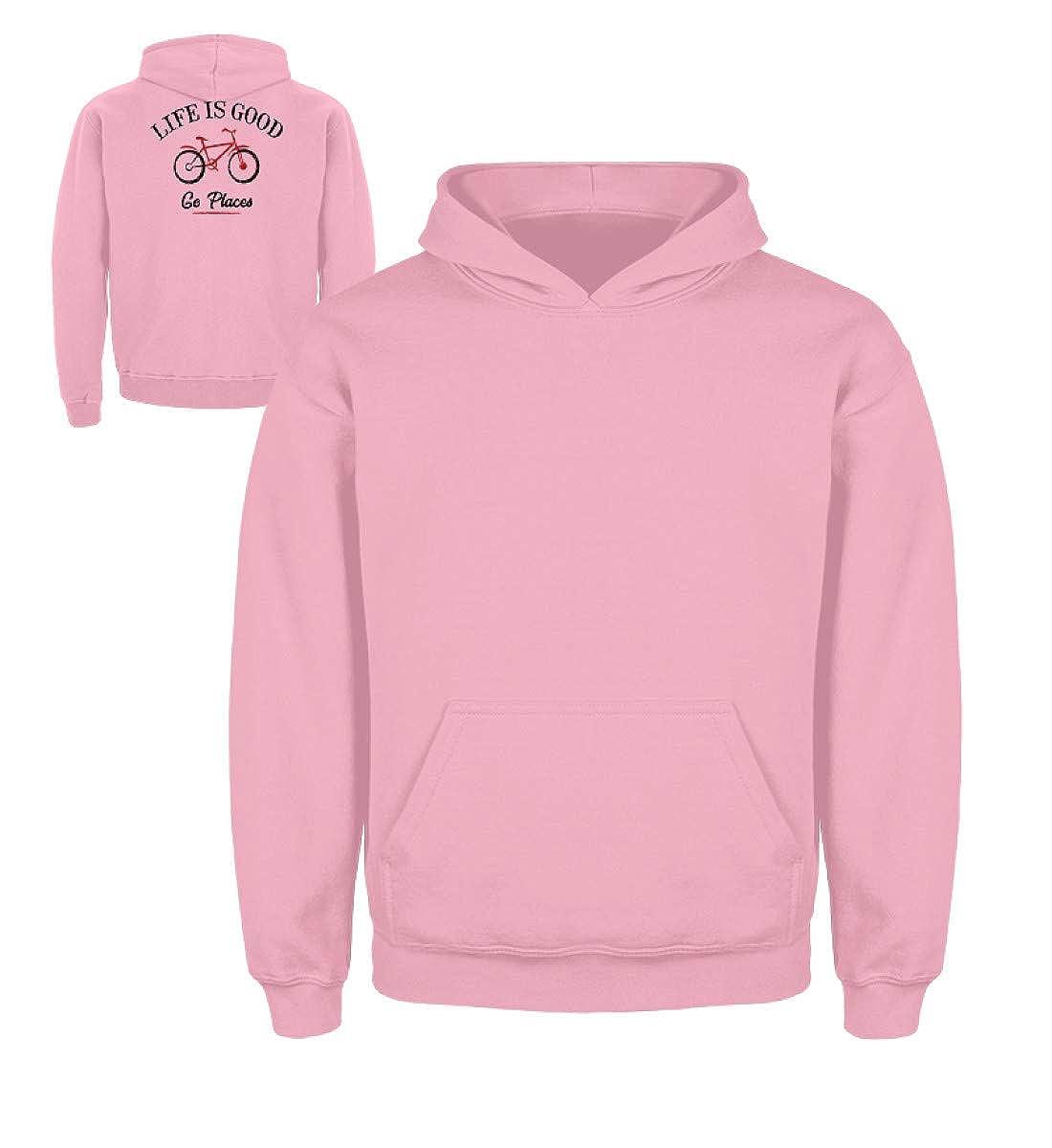 Rose Layette 122 cm 128 cm generisch - Sweat-Shirt à Capuche - Fille