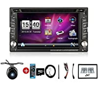 New Arriva with free back up cameral! Upgarde Version 2 Din Bluetooth GPS Navigation Radio 6.2 Inch Car DVD Player Stereo Autoradio In Dash Headunit Car Video Player for universal car