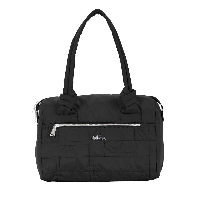 Kipling Women's Val Quilted Handbag One Size Black Plaid Combo