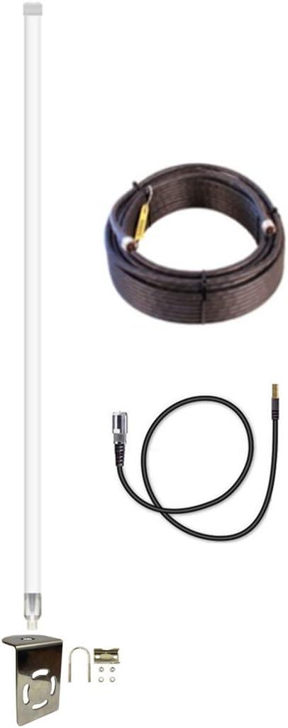 12dBi AT&T Velocity USB Modem MF-861 Fiberglass 4G LTE XLTE External Antenna Kit w/100ft Coax Cable