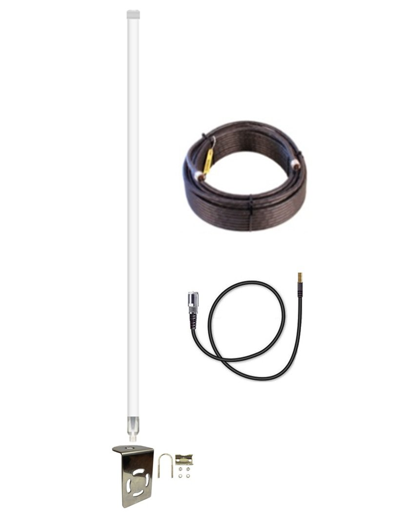 12dBi Verizon 7730L Fiberglass 4G LTE XLTE External Antenna Kit w/25ft Coax Cable
