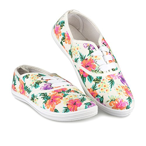 Twisted Womens Sneaker Womens Print Floral Floral Tennis White Twisted PHZwxH6