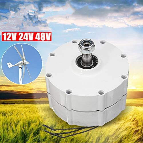 LQQ 400w/500w/600w/800w 12/24/48v Permanentmagnetgeneratormotor Windgeneratormotor Für Windturbinen Blade Controller 3-phasen-Strom PMSG,600W-48V