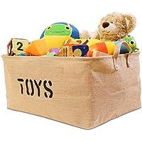 "Jute ""TOYS"" 22""Long x 15""Wide ( 3 SIZES) Storage Bin - Storage Baskets for..."