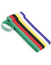 60 PCS Cable Ties Reusable Wire Organizer Management Microfiber Cloth 5.9-Inch,(Assorted Colors)