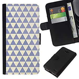 KingStore / Leather Etui en cuir / LG OPTIMUS L90 / Nettoyer Bleu Beige