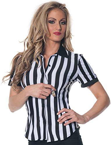 Underwraps Women's Referee Fitted Shirt, Black/White, Small