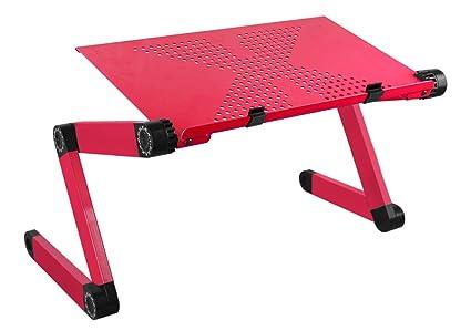 Laptop mesa soporte para portátil con ventilación Orificios ergonómico ajustable en altura Soporte 360 ° Ajustable