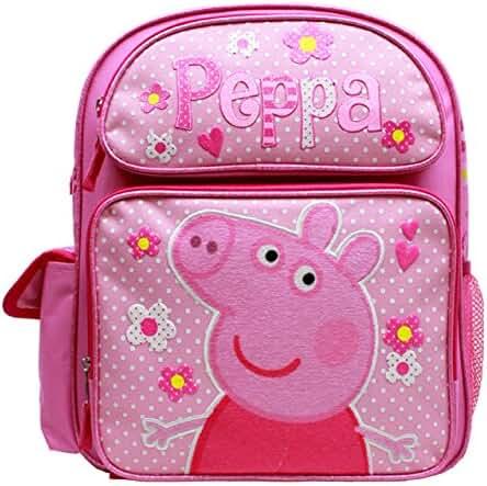 Medium Backpack - Peppa Pig - Pink Flowers 14
