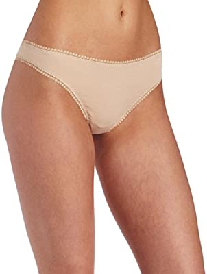 OnGossamer Hip G Cabana Cotton Panty Champagne Low Rise Thong Y-shaped Stretch