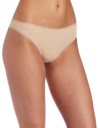 On Gossamer Women's Cabana Cotton Hip-G Thong Panty, Champagne, L/X-L