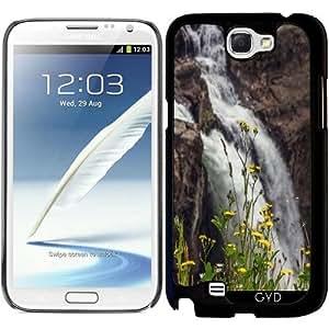 Funda para Samsung Galaxy Note 2 (GT-N7100) - Cascada Y Flores Silvestres by J McCool