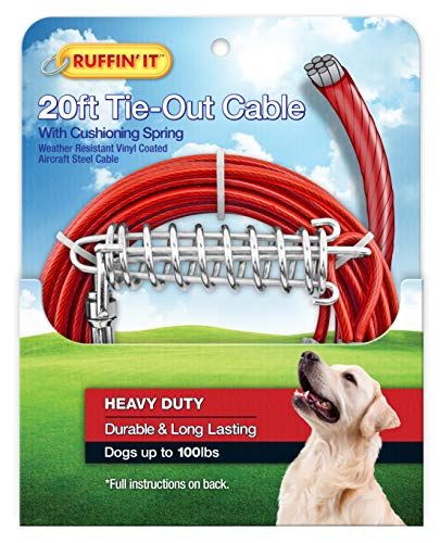 (Ruffin' It Strength Heavy Duty Cable Tie Out/Spring,)