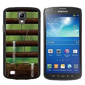 KLONGSHOP // Cubierta de piel con cierre a presión Shell trasero duro de goma Protección Caso - Amanecer foto - Samsung Galaxy S4 Active i9295 //