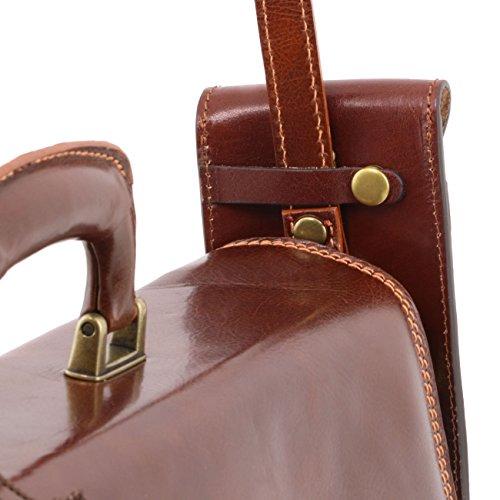 Smartphone a grande pelle in tracolla Leather Tuscany Esclusivo Miele Misura portaocchiali Marrone xpRtnawUIq