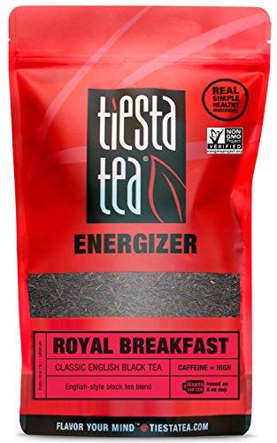 Tiesta Tea Royal Breakfast, Classic English Black Tea, 200 Servings, 1 Lb Bag, High Caffeine, Loose Leaf Black Tea Energizer Blend, Non-GMO