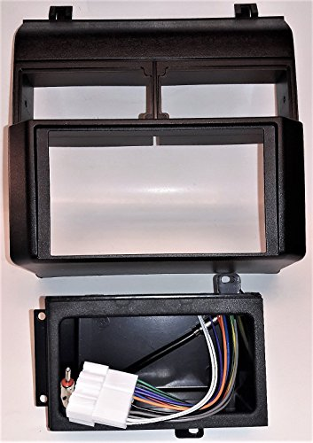 Double Din Dash kit, harness, antenna adapter and pocket for installing a new radio into a Chevrolet and GMC Full Size Blazer (92-94), Full Size Pickup (88-94), Suburban (92-94), GMC Yukon (92-94) (94 Dash Kit)