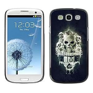 // PHONE CASE GIFT // Duro Estuche protector PC Cáscara Plástico Carcasa Funda Hard Protective Case for Samsung Galaxy S3 / Pesadilla Tiempo Skulls /