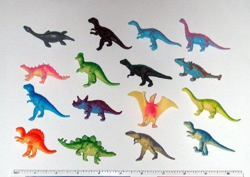 Hard Plastic Figure - Rhode Island Novelty 12 Mini Dinosaur Figures Hard Plastic- 2