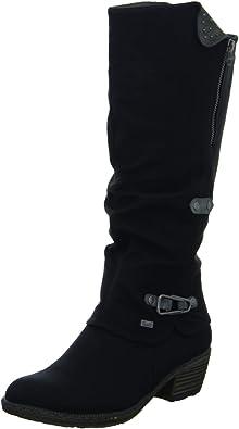Rieker Bernadette 93752 00 Women's Black Dress Boots