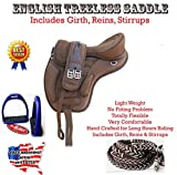 Professional Equine English Horse Synthetic Treeless Saddle Stirrups 80201BR
