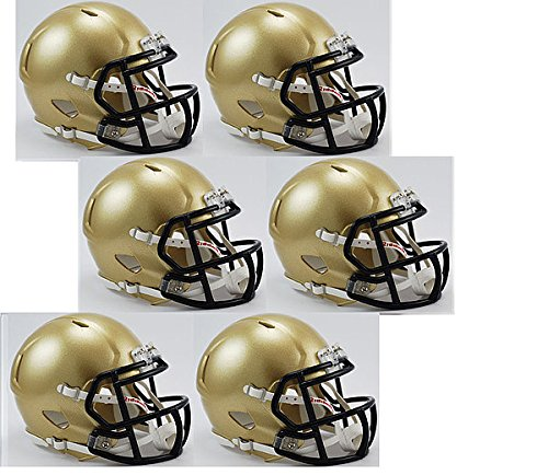 Riddell Navy Midshipmen NCAA Mini Speed Football Helmet 6 count - NCAA Licensed - Navy Midshipmen Collectibles