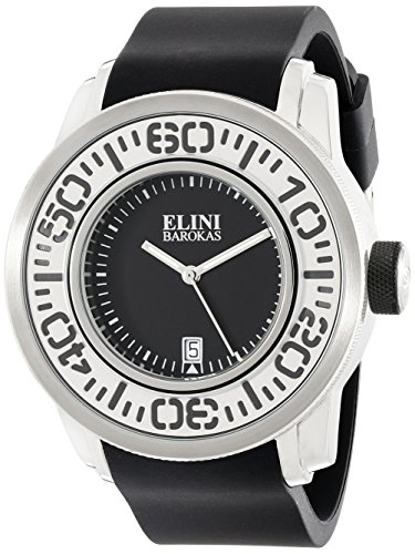 Equinox Mens Watch - Elini Barokas Men's ELINI-12989-01 Equinox Analog Display Swiss Quartz Black Watch
