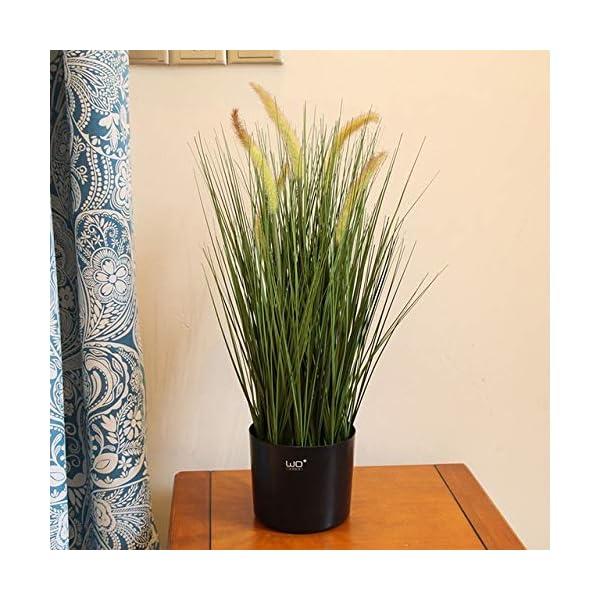 Hockus Decorations Simulation Green Plant Bonsai Landing Reed Foxtail Plantas Artificiales para Decoracion – (Color: 60cm Dog Tail Grass)