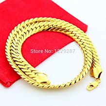 Dancing Zone 2015 Brand New Necklcae Top Quality , Necklace Men 24K Real Gold Chain Necklace