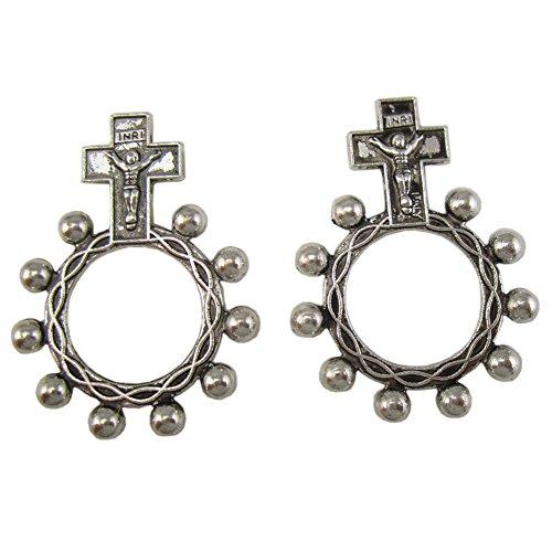 100pcs of Religious Anello Preghiera Finger Decade Rosary Ring