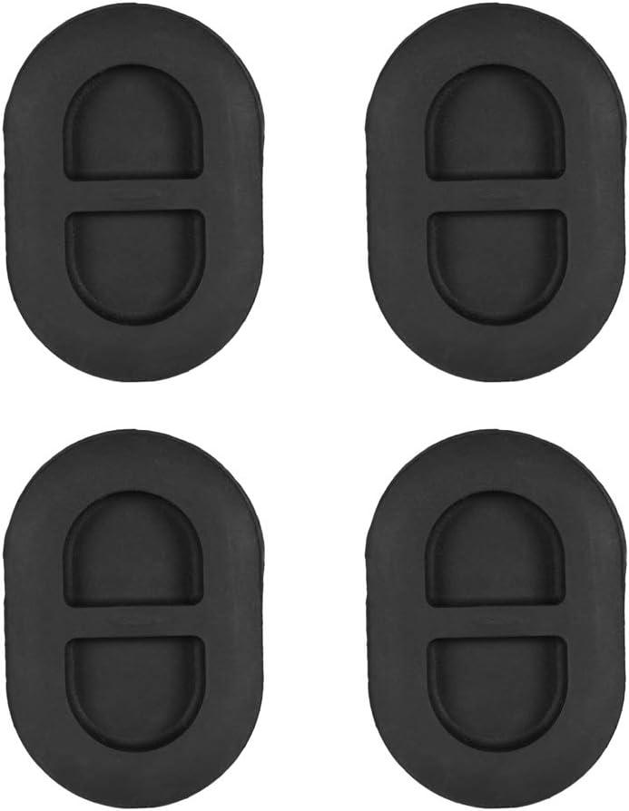 4Pcs Tappo di Scarico Nero a Pavimento Tappo di Scarico Posteriore a Pavimento Piccolo Tappo in Gomma Adatto per Jeep Wrangler JK JL