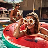 Pool Floats for Adults Watermelon Swim Ring, Summer Outdoor Inflatable Swimming Pool Toys