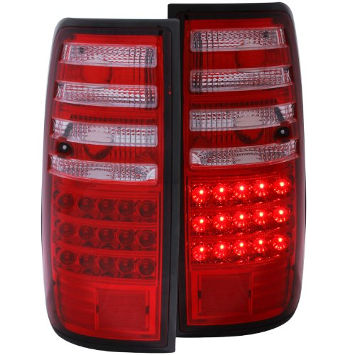 Anzo USA 311095 Toyota Land Cruiser Red/Clear LED Tail Light Assembly - (Sold in Pairs) (Led Toyota Cruiser Land)