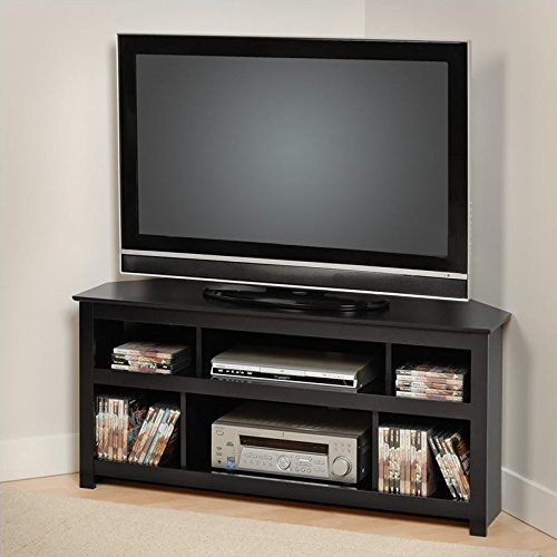 Black Vasari Corner Flat Panel Plasma / LCD TV Console by Prepac