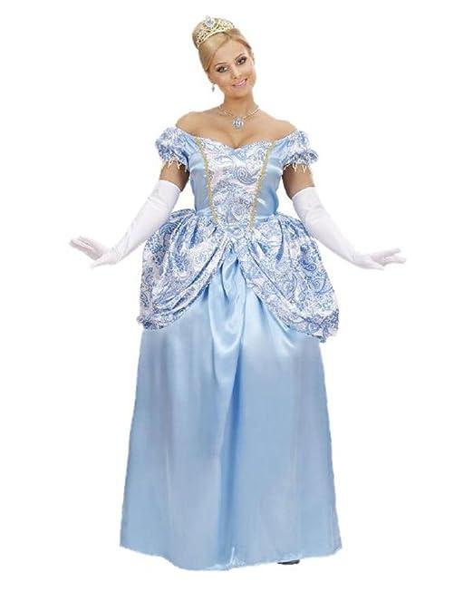 5f971c587669 WIDMANN Costume Carnevale Donna Vestito Principessa Azzurra  19807-L   Amazon.it  Abbigliamento