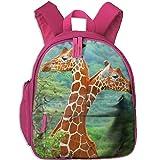 Africa Giraffe Close Up School Book Bag Cute Backpack Bag For Girls Boys