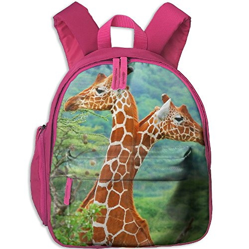 Africa Giraffe Close Up School Book Bag Cute Backpack Bag For Girls Boys by Jusxout