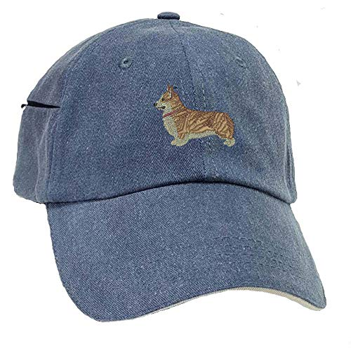 YourBreed Clothing Company Corgi Low Profile Baseball Cap with Zippered Pocket.